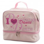 Borsa bauletto in raso I LOVE DANCE